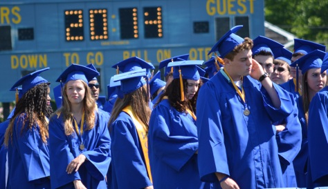 A special message graced Northport's scoreboard on Saturday as graduates took their seats on the football field.