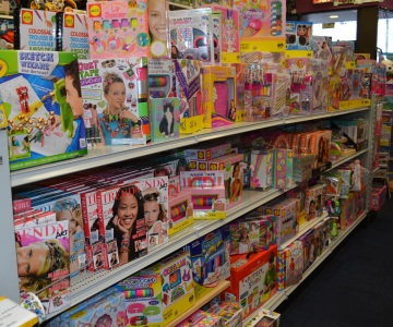 At Cow Over The Moon in Huntington, the aisles are filled with all sorts of toys for kids of all ages.